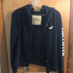 Hollister button down hoodie/jacket
